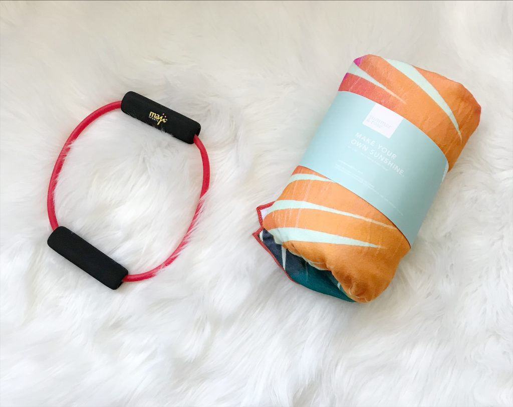 Resistance Band and Beach Towel