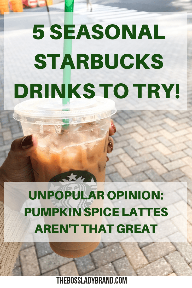 These are some of the best Starbucks Drinks in my opinion that are not a pumpkin spiced latte! I'm personally not a fan, so these are what I like! #starbucks #pumpkinspice #fall