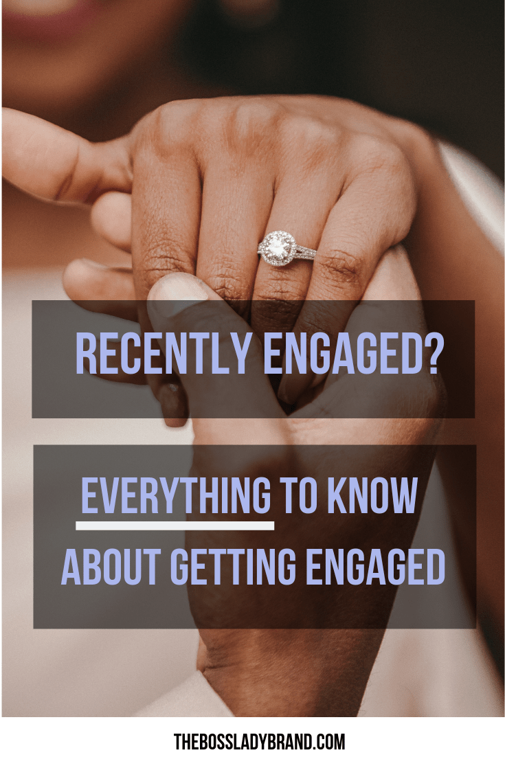 Are you recently engaged? Well first, Congrats! And second, I am here to give you all the inside scoop on the things you need to know after your engagement! #engagementring #weddingring #weddingideas #weddingplanning #proposal
