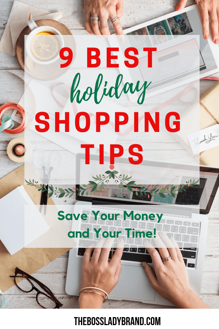 Are you crunched for time? Here are my 9 best holiday shopping tips! These things will help you save money and time when it comes to getting gifts! #onlineshopping #savemoney #budget #shoppinghacks #shoppingtips